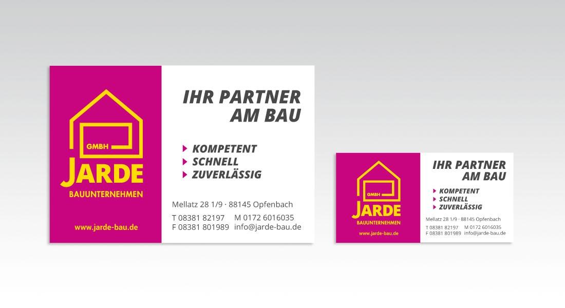 Jarde Bauunternehmen Banner